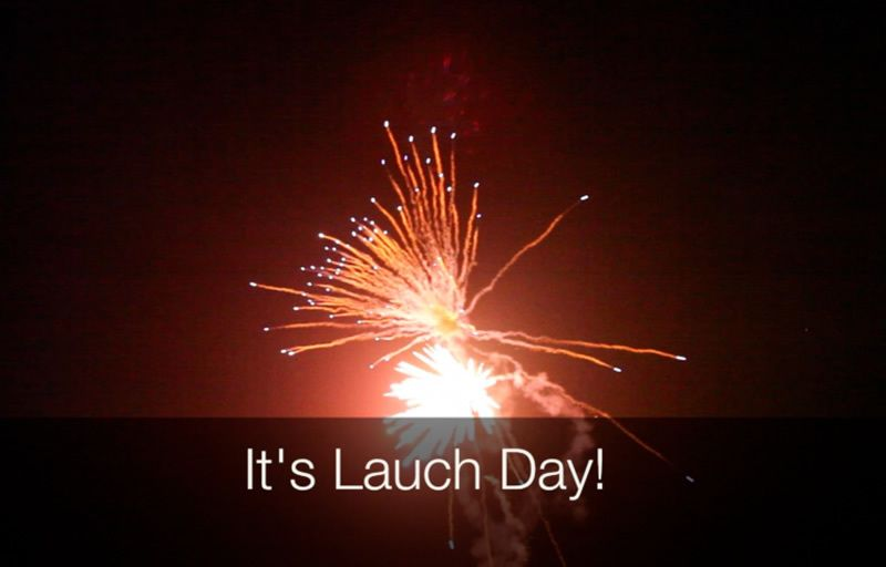 Link image to YouTube launch video with fireworks