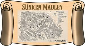 Map of Sunken Madley on a scroll