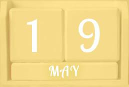 Calendar blocks showing 19 May
