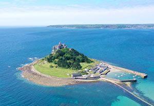 Cornwall island of the coast