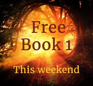 Sunright clowing between trees. Text: Free Book 1 This weekend