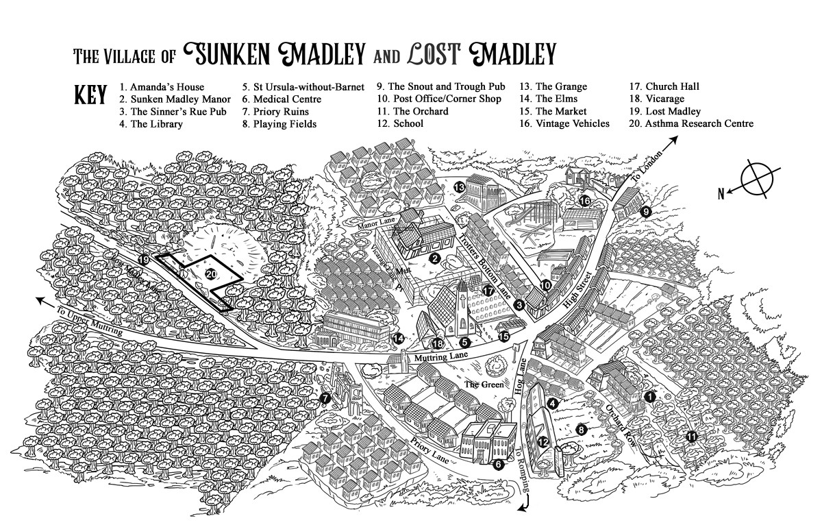 Map of Sunken Madley and Lost Madley