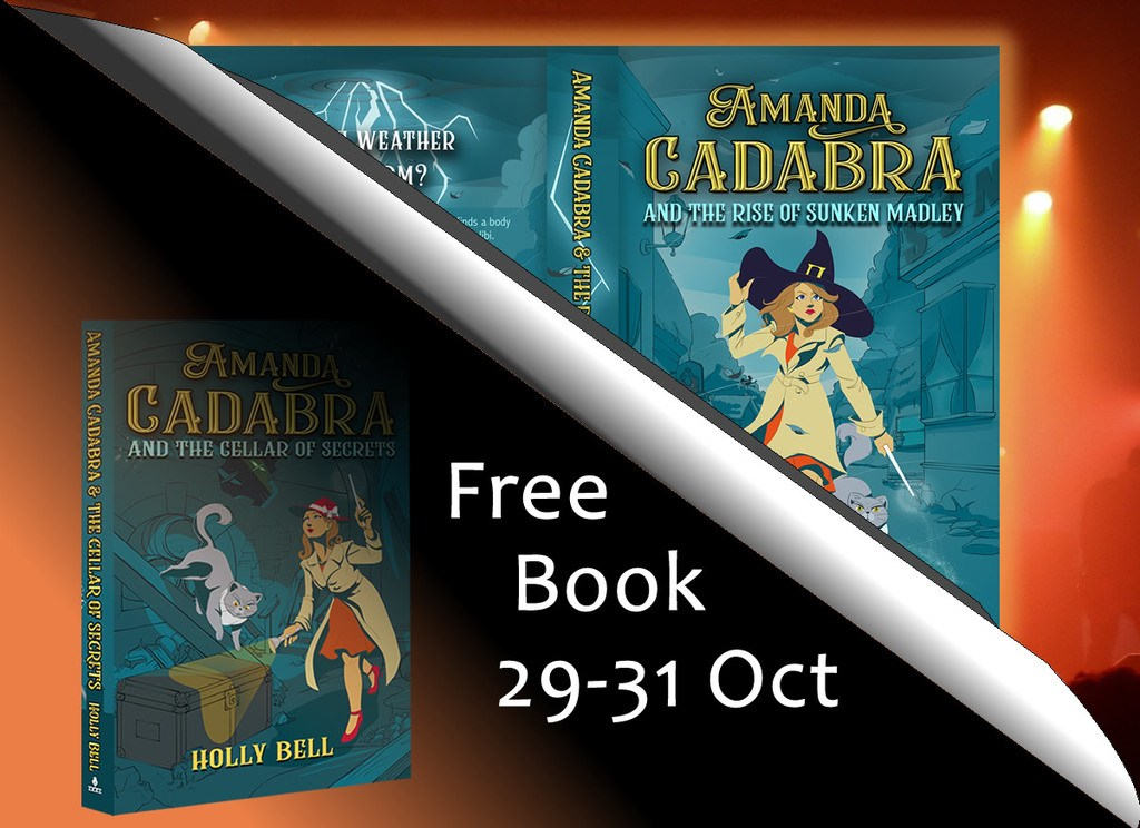 Book 4 paperback top right and Book 2 bottom left with text: Free book 29 - 31 Oct