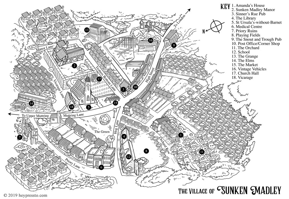 Map of Sunken Madley from Book 1