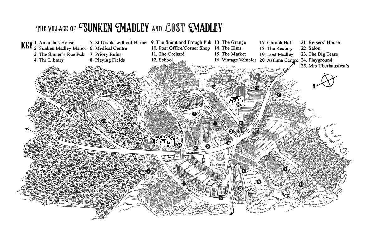 Map of Sunken Madley and Lost Madley with new features