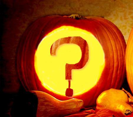 Question mark in pumpkin