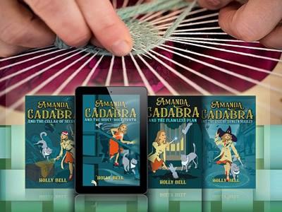 4 Amanda Cadabra Books and hands weaving