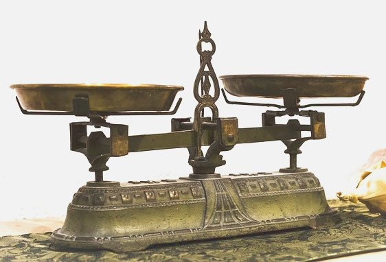 Vintage brass scales