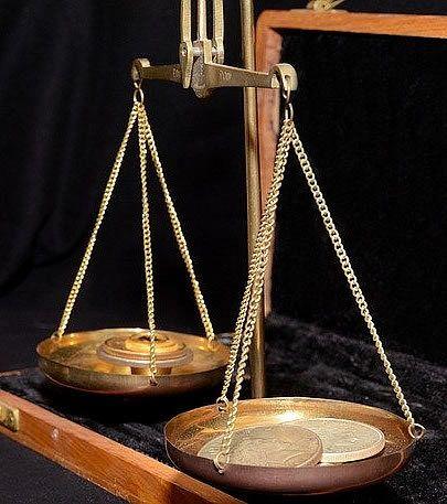 Brass vintage scales - decision